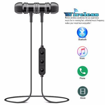 ETTE S1 Magnetic Wireless Bluetooth In Ear Stereo Sound Earphone,headphone, headset (Black)