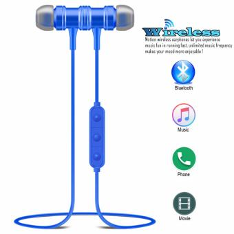 ETTE S1 Magnetic Wireless Bluetooth In Ear Stereo Sound Earphone,headphone, headset (Blue)