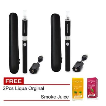 EVOD Electronic Cigarette Vape with Case Set of 2 with Free 2Pieces Liqua Orginal Smoke Juice