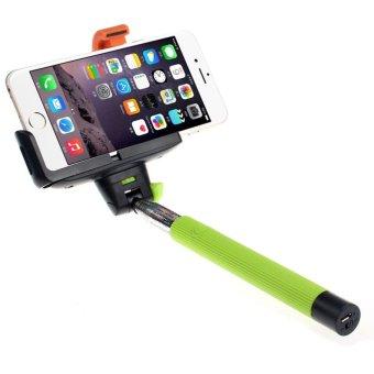 Extendable Handheld Bluetooth Selfie Stick Monopod (Green)