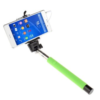 Extendable Handheld Self-portrait Monopod for IOS Android (Green)