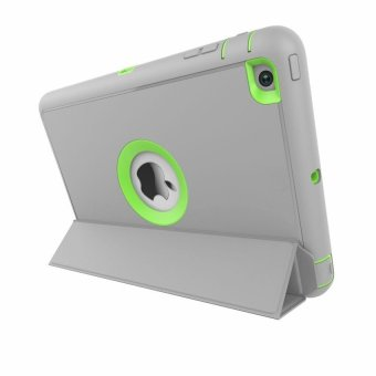 Extreme Hybrid Shockproof Case for Apple iPad Air 2 (Grey/Lime)