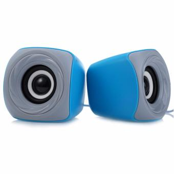EZEEY T11 Portable Mini USB 3.5mm Powered Speaker(Blue-Gray)