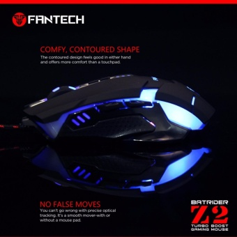 Fantech 3200DPI Breathe Light Optical Mouse Z-2 (BLACK) - 2