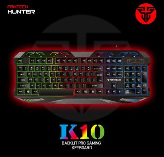 Fantech K-10 USB Colorful Backlight / Water Resistant GamingKeyboard (Black) - 3