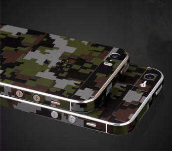 Fashion Camouflage Green Full Body Skin Sticker DIY Front BackCover Film for Apple iPhone 6(s) Plus - 3