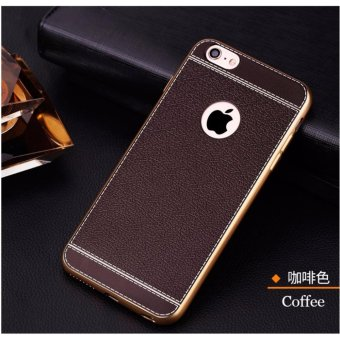 Fashion Leather Phone Case for Apple iPhone 6/6s Case Series Soft TPU Material For iPhone 6/6s Case (coffee) - intl