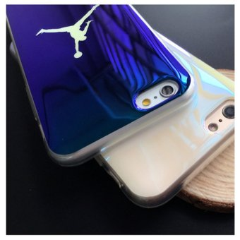 Fashion Michael SuperNBA Jordan 23 Chicago TPU soft Blu-ray laserUltra Thin Back Cover case for iPhone 7 4.7 '' - intl - 3
