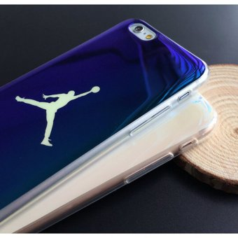 Fashion Michael SuperNBA Jordan 23 Chicago TPU soft Blu-ray laserUltra Thin Back Cover case for iPhone 7 4.7 '' - intl - 2