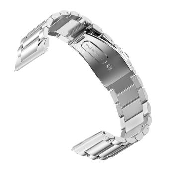 Fashion Portable Replacement Watchband Stainless Steel Watch BandStrap for Samsung Gear S3 Classic Frontier Model Smart Watch Silver- intl