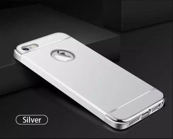 Fashion Shockproof for iPhone 5s SE Plating Metal TextureSkin-friendly Mobile Phone Cover Case - intl