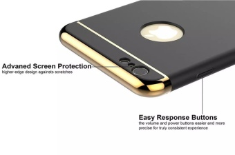 Fashion Shockproof for iPhone 5s SE Plating Metal TextureSkin-friendly Mobile Phone Cover Case - intl - 3