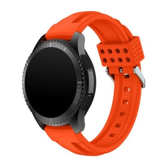 Fashion Silicone Band Strap Bracelet For Samsung Gear S3 FrontierOrange - intl