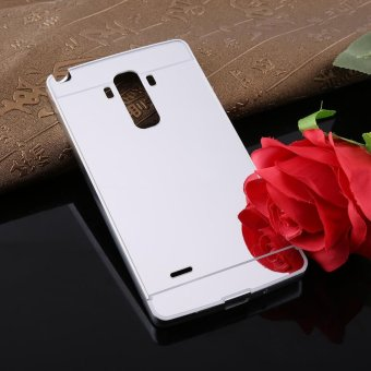 Fashion Ultra-Thin Luxury Detachable Metal Mirror Back Cover Phone Case For LG G4 Stylus (Silver) - intl