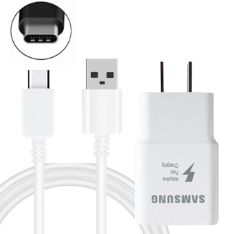 Fast Charger For Samsung Galaxy A3 2017 / A5 2017 / A7 2017 withType-C USB (White) Price Philippines