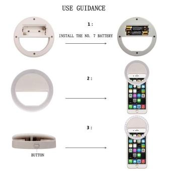 FFY Mobile Phone Fill Light LED Self-Sticks Flash Light Beauty FillLight Round Flash Light Artifact Apple Lens Photography &Studio Lighting - intl - 5