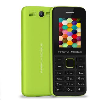 Firefly Mobile Express (Dual-Sim, Internet & Facebook Ready, Saved SMS Sent Items, Ultra Capacity 750 mAh Battery, Electric Lime)