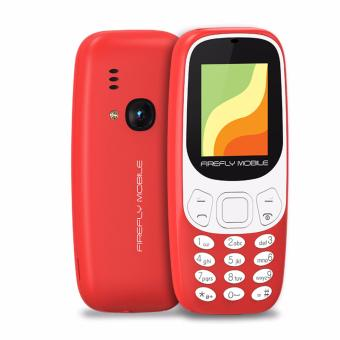 Firefly Mobile F2 (Compact Camera Phone, Dual-Sim, Hi- Capacity 600 mAh Battery, Poppy Red)