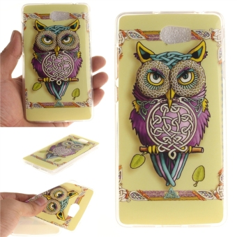 Fit Soft TPU Phone Back Case Cover For Huawei Y5II / Huawei Y5 2 (Colorful Owl) - intl