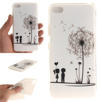 Fit Soft TPU Phone Back Case Cover For Lenovo S90 Sisley S90T(Dandelion Lover) - intl
