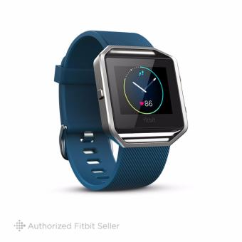 Fitbit Blaze Wireless Activity and Sleep Wristband, Small 14 cm - 17 cm - Blue Silver