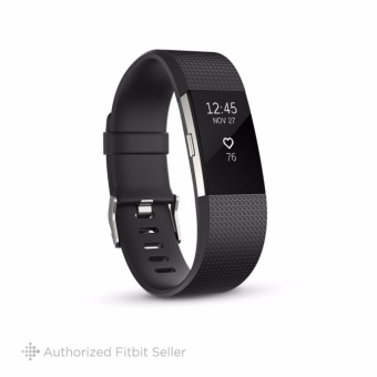 Fitbit Charge 2 Heart Rate + Fitness Wristband, Small 14 cm - 17 cm - Black