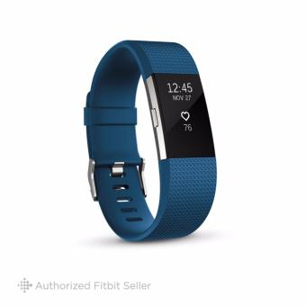 Fitbit Charge 2 Heart Rate + Fitness Wristband, Small 14 cm - 17 cm - Blue