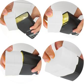 Flash Bounce Diffuser Soft Cover for YONGNUO YN560 III YN560 II YN565 EX White - 2