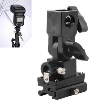 Flash Light Hot-Shoe Umbrella Holder Swivel B type Stand Bracket Mount - intl