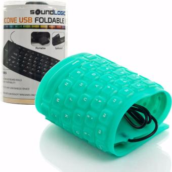 flexible usb keyboard for pc and mac silicone waterproof green