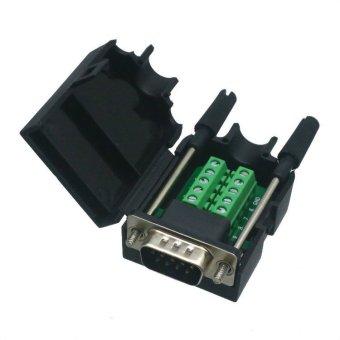 Fliegend DB9 D-SUB VGA Plug 10pin Terminal Breakout PCB ConnectorCOVER HOOD (Black)- Intl, 348.40, Update. Fliegend DB9 D-SUB VGA female jack 9pin port ...