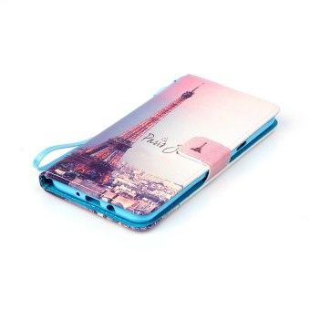 Flip Cover Leather Case for Samsung Galaxy J7 (2016) J710 (Eiffel Tower) - Intl - 4