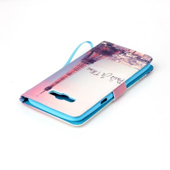 Flip Cover Leather Case for Samsung Galaxy J7 (2016) J710 (Eiffel Tower) - Intl - 5