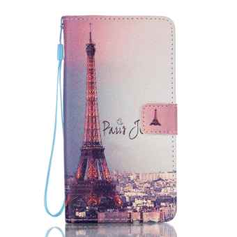 Flip Cover Leather Case for Samsung Galaxy J7 (2016) J710 (Eiffel Tower) - Intl