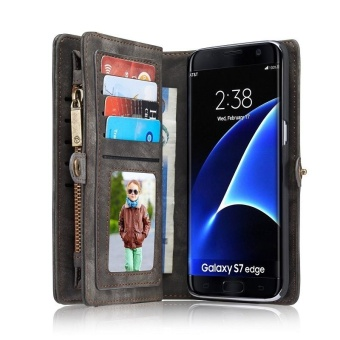 flip Cover Phone Case For Samsung S7 Edge Multi-function Premium Genuine Leather Card Slot Wallet - intl