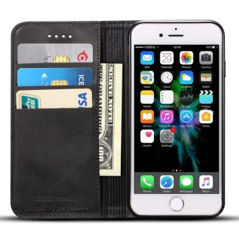 flip Cover Skin Phone Case For Apple Iphone 6 Plus/Iphone 6s Plus Premium Genuine Cow Leather Card Slot Wallet - intl