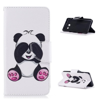 "Flip Style Fashion Panda Pattern Cover (PU leather and TPU) StandFunction Protection wallet phone case for Samsung Galaxy J5 (2017)5.2"" - intl Price Philippines"