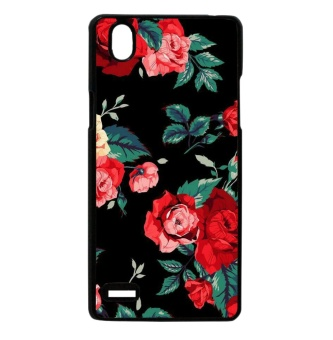 Floral Black Case For Oppo Mirror 5
