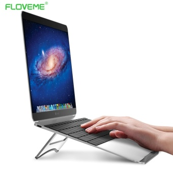 FLOVEME Portable Metal Aluminium Laptop Stands with Cooling Function for MacBook Air Mac Book Pro - intl
