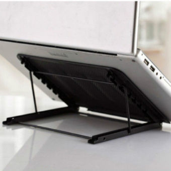 Foldable Cooling Stainless Stand for Laptop Stands for iPadComputer (Black)