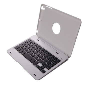 Foldable Wireless Bluetooth Keyboard Cover For iPad Mini 1 23(White)