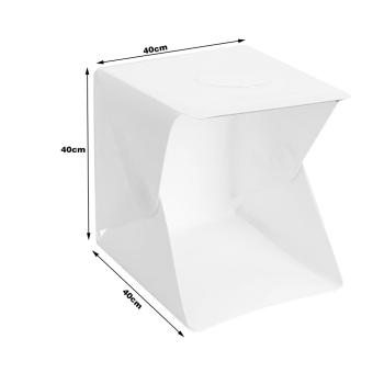Folding Photo studio Shooting Tent with LED Light Room Photo Studio Photography Lighting Tent Backdrop Cube Box Mini Stand Portable - 3