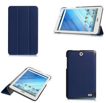 For Acer Iconia One 8 B1-850 case, Ultra Slim Lightweight SmartCover Stand Case for Acer Iconia One 8 B1-850 (Navy Blue) - intl
