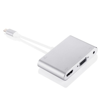 For APPLE 8Pin Lightning to HDMI VGA Digital AV Adapter Cable For iPhone 6 7 - intl