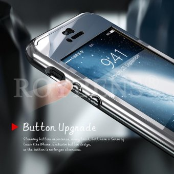 For Apple iPhone 5/5S/5SE Case 360 Full Protection Mirror HardPlastic Slim Back Cover Silver - intl