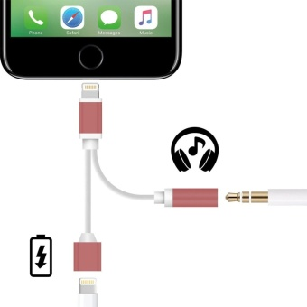 For Apple Iphone 7/Iphone7/Plus Lighting To 3.5mm Aux Headphone Adapter Charging Charger Cable Headset Earphone Jack Converter - intl