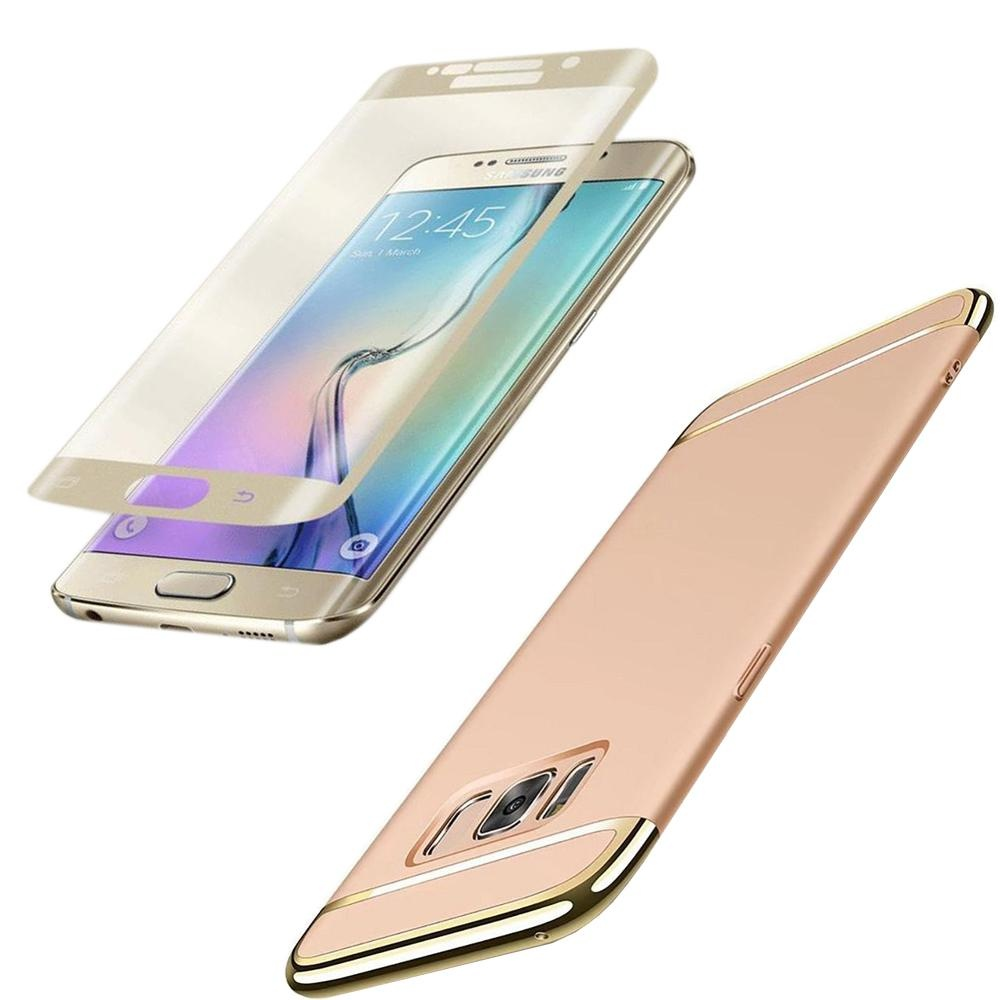 ... For Galaxy S8 Plus Ultra Slim Phone Case + HD Full CoverageTempered Glass/ Shockproof Reinforced ...