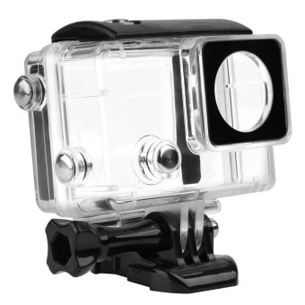 For GoPro 4 Accessories LCD Display Waterproof Housing Case for Gopro Hero 4 3+ Hero4 Black - intl
