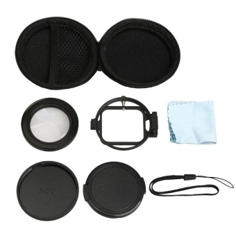 For GoPro HERO5 Sport Action Camera Professional 58mm 16X MacroLens Close-up Filter With Lens Base and Adapter Ring and LensProtective Cap and Anti-lost Hand Strap and Cleaning Cloth - intl - 5