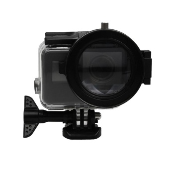 For GoPro HERO5 Sport Action Camera Professional 58mm 16X MacroLens Close-up Filter With Lens Base and Adapter Ring and LensProtective Cap and Anti-lost Hand Strap and Cleaning Cloth - intl - 2
